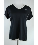 FILA Ladies Cut Performance Side Zip Pocket Earbud Loop Workout Shirt - ... - $14.54