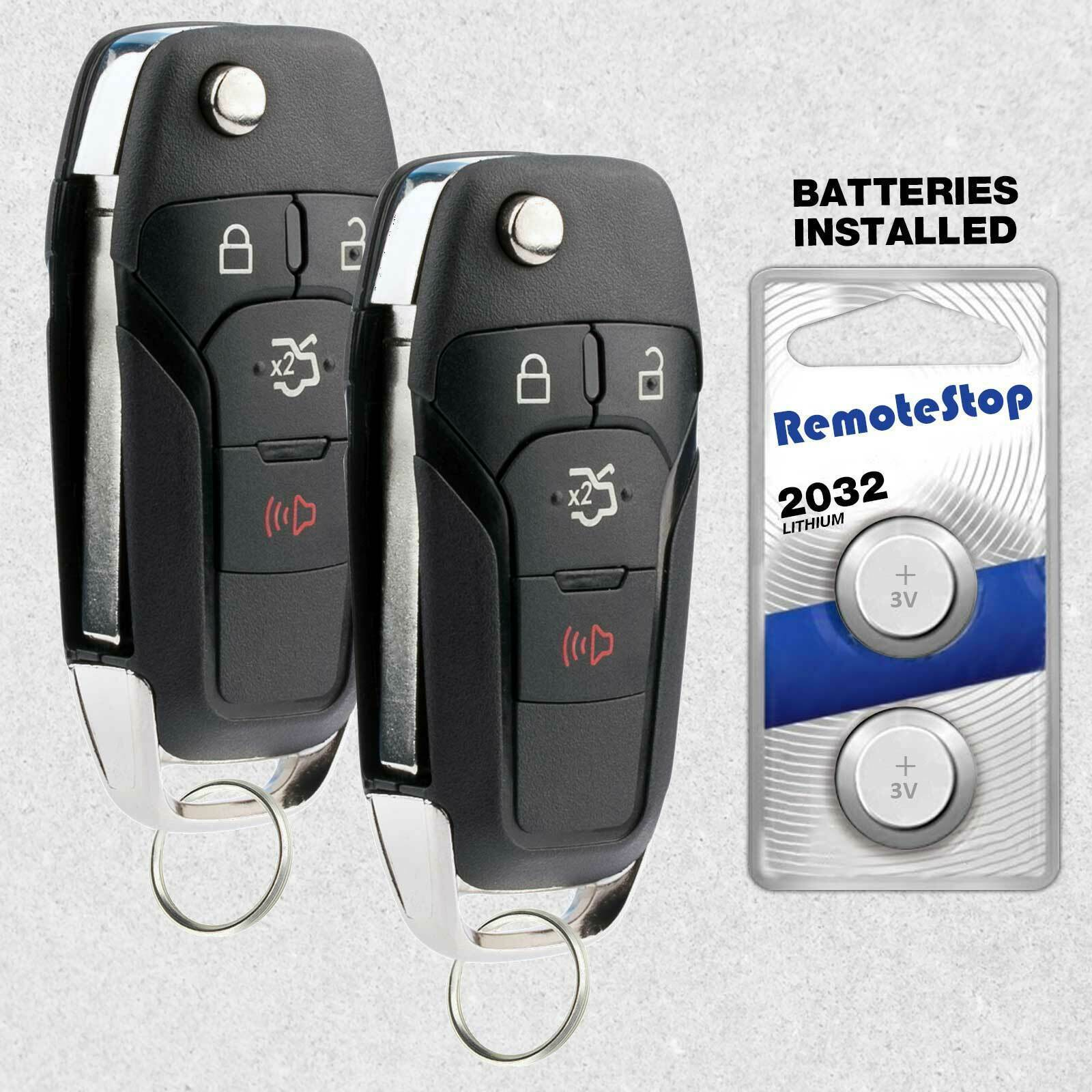 Primary image for 2 For 2013 2014 2015 2016 Ford Fusion Keyless Entry Car Remote Flip Key Fob