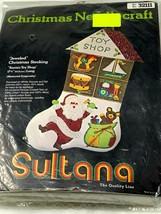 VINTAGE SULTANA JEWELED CHRISTMAS STOCKING KIT TOY SHOP #32111 NEW OLD S... - $22.00