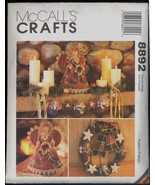 Country Angel Christmas Wreath Stocking McCalls 8892 Garland Ornament Pa... - $6.99