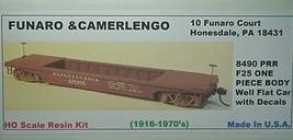 Funaro & Camerlengo HO PRR PRR F25 Well  flatcar  kit 8490 image 1