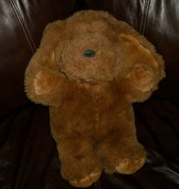 "18"" BIG VINTAGE MTY INTERNATIONAL BROWN TAN PUPPY DOG STUFFED ANIMAL PLU... - $32.73"