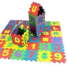 36Pcs/Set Child Kids Novelty Alphabet Number EVA Foam Puzzle Learning Ma... - $10.99