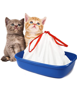 Cat Litter Box Liners large with Drawstrings Scratch Resistant Bags - $39.23
