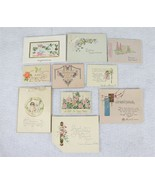 1920s Greeting Cards Birthday Wedding Baby Confirmation Embroidered Lot ... - $24.74