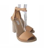 "S-2142999 New Balenciaga Beige Leather 5"" Heels Sandals Shoes US 10 Mark... - $247.34"