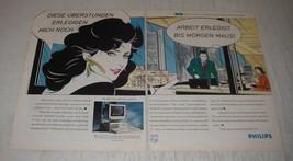 1990 Philips PC P3230 Computer Ad (in German) - Diese Uberstunden Erledigen  - $14.99