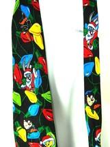 Looney Tunes Mania Tweety Daffy Bugs Bunny Taz Porky Silk Christmas Neck Tie  - $14.80