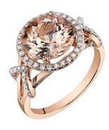 14K Rose Gold 3.25 Carat Round Cut Morganite Ring - $1,089.99