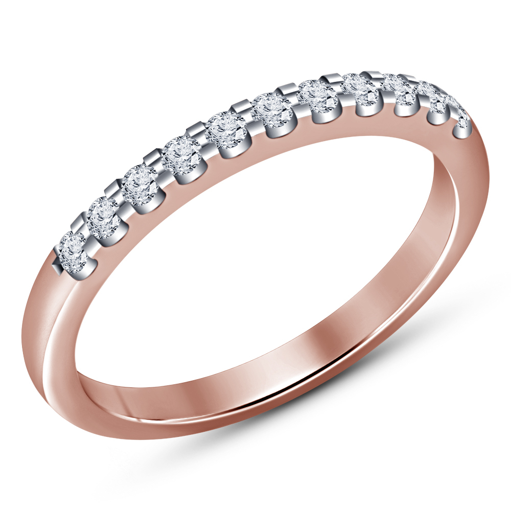 Round Diamond His And Her Trio Engagement Ring Set 14K Rose Gold Over 925 Silver