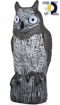 Galashield Owl Decoy to Scare Birds Away Scarecrow Fake Owl with Solar P... - $21.44