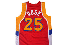 Derrick Rose #25 McDonald's All American Men Basketball Jersey Red Any Size image 2