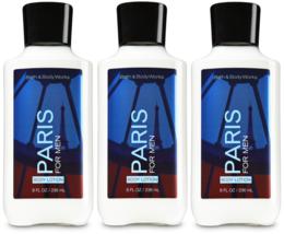 Bath & Body Works Paris For Men Body Lotion 8 fl oz / 236 ml Set Of 3 Bo... - $29.39