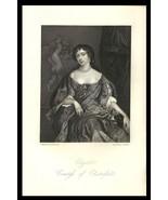 Elizabeth, Countess of Chesterfield 1851 Art Print Charles II Court Beau... - $24.99