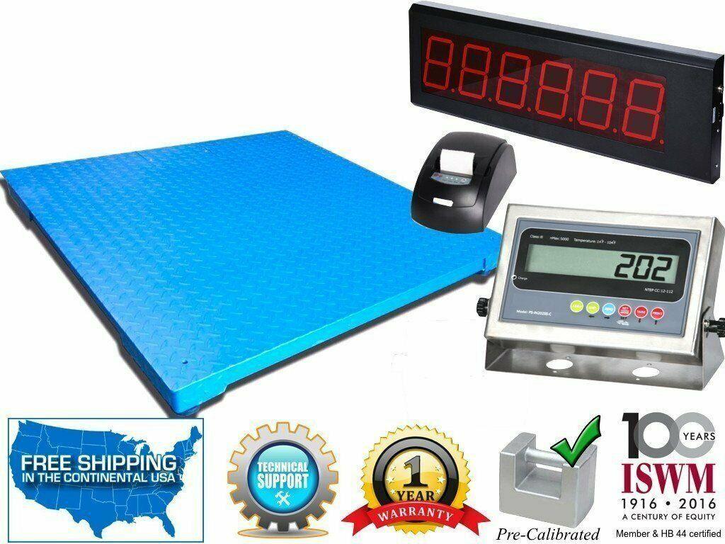 48 Quot X 72 Quot Industrial Floor Scale With Printer Amp Scoreboard