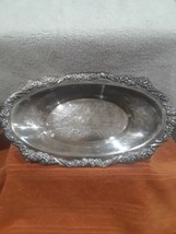 """CROSBY Mid Century Silver Plate Oblong Serving Bowl 13"""" Silverplate Bowl - $21.95"""