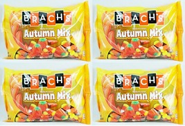 4x 20oz BAG BRACH'S AUTUMN MIX MELLOWCREME CANDY CORN PUMPKINS HARVEST CORN NEW image 1