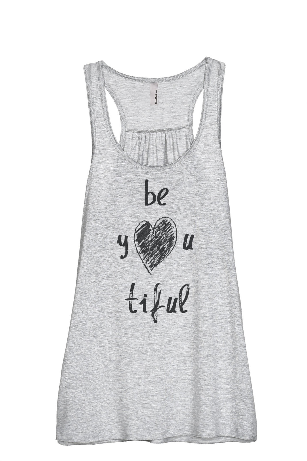Thread Tank Be YOU Tiful Beautiful Women's Sleeveless Flowy Racerback Tank Top S