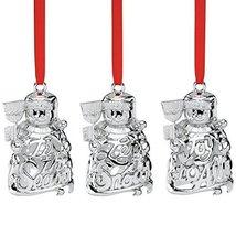 Lenox Snowmen, Set of 3 Ornaments - $24.70