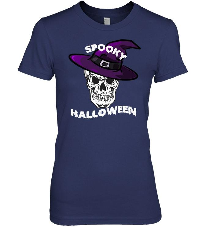 Funny Spooky Halloween Skull T shirt Witches Tshirt Tee