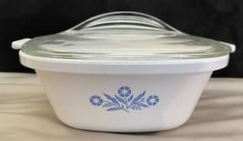 Corning Ware Blue Cornflower P-17-B Casserole Dish With Glass Lid - $27.66