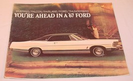 1967 FORD MOTOR COMPANY NEW MODEL BROCHURE MUSTANG THUNDERBIRD FAIRLANE ... - $21.45