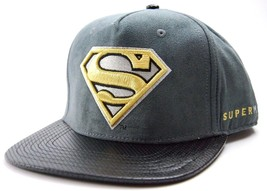 DC Comics Officially Licensed Active Chrome Superman Snapback Cap Hat  Gray - £15.64 GBP