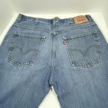 38X34 Levis 569 Loose Straight Mens Jeans 100% Cotton Medium Wash Hole i... - $64.30