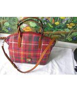 Dooney & Bourke Red with Tan Handle Satchel Handbag NWT - $186.12