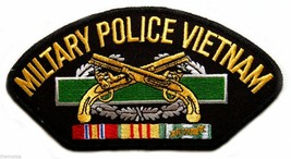 "ARMY MILITARY POLICE VIETNAM VETERAN  EMBROIDERED SERVICE RIBBON 6"" PATCH - $17.14"
