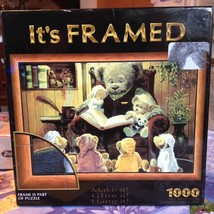 It's Framed Teddy Bear Family Puzzle 1000 Pieces Frame is Part of Puzzle... - $22.99