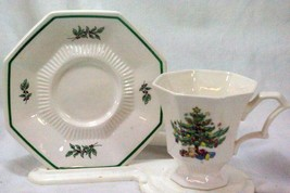 Nikko ChristmasTime 8 oz Cup And Saucer Set #259 - $4.15