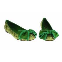 Dolce & Gabbana Women Green Sequined Silk Loafers Flat Shoes US 8.5 EU 39 - $350.31