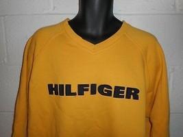 Vintage 90s Tommy Hilfiger Spell Out V Neck Sweatshirt XL - $24.99