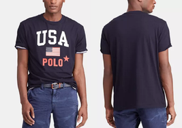 Polo Ralph Lauren Men's Big & Tall Classic-Fit Jersey Graphic Americana ... - $39.59