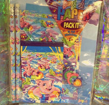 Lisa Frank Unsealed But COMPLETE Piggy Pig In A Tube +River Peekaboo Stationery image 3