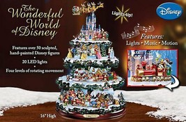 Disney 50 Character Tabletop Christmas Tree Carousel Musical Light Motio... - $324.71