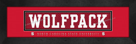 North Carolina State Officially Licensed 8x24 Slogan Stitched Jersey Framed Prin - $39.95