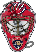 Florida Panthers Jackets Front Goalie Mask Vinyl Decal / Sticker 10 Size... - $3.99+