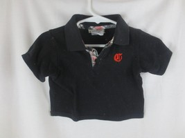 Carters Watch the Wear Polo Shirt Black 12 Months - $1.95