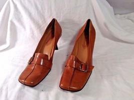 """Enzo Angiolini Heels Leather Upper sz 9.5 M Eadenette 3"""" heels Buckle ea... - $18.13"""