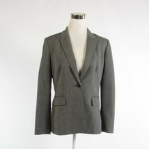 Gray herringbone CALVIN KLEIN long sleeve blazer jacket 6 - $39.99