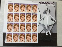 2016 Shirley Temple Stamp  Full Pane of 20 *Signed* at World Stamp Show  - $15.88