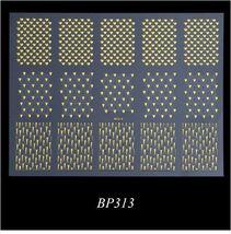 "HS Store - 1 pcs ""BP313"" Golden 3D Nail Art or Nails Decoration Decal St... - $2.79"