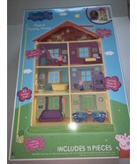 New Peppa Pig Play House George Pig Over 11 Pieces Kids Boy's Girl's Toy... - $48.49