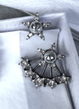 AUTH Christian Dior 2018 LIMITED EDITION CD Logo Pearl CRYSTAL STAR EARRINGS  image 2