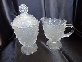 Sugar Bowl and Creamer Set Stippled Star Reprod... - $32.99