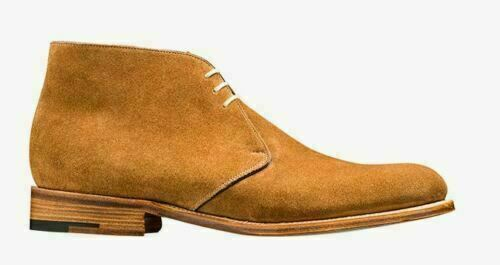 Handmade Men's Tan Suede Chukka Lace Up Boots