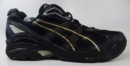Asics GT 2130 Size US 13 M (D) EU 48 Men's Running Shoes Black Gold TN804