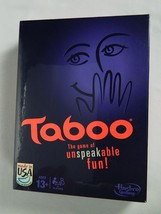 Taboo by HASBRO  Board Game of Unspeakable Fun New Sealed Box 4 players 13+ - $39.55